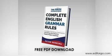 English grammar PDF Books Exercises Rules
